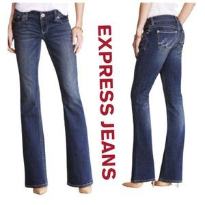 Express Fit and Flare Jeans Bell Bottom Pants